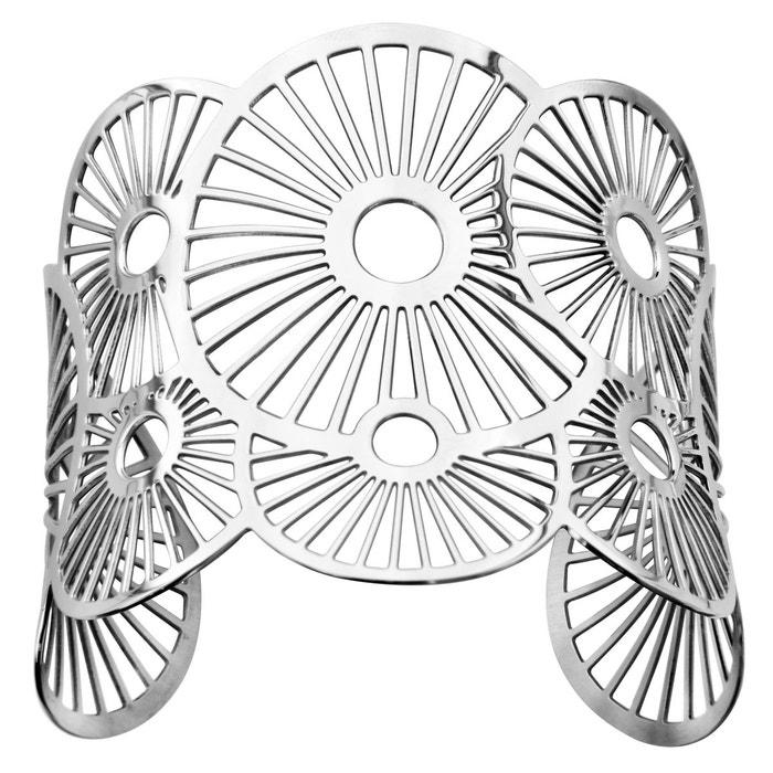 Bracelet manchette soleils acier inoxydable couleur unique So Chic Bijoux | La Redoute Vente À Bas Prix En Ligne RIcJLS