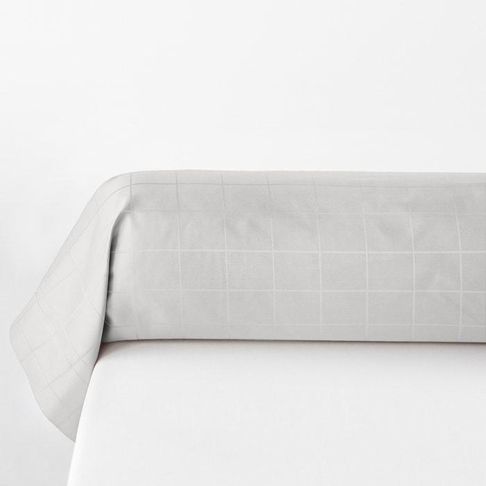 Checkered Cotton-Satin Bolster Case  La Redoute Interieurs image 0