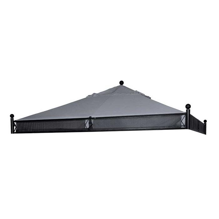 toile de toit pour la tonnelle jakarta 3 5 x 3 5 m ardoise couleur unique hesperide la redoute. Black Bedroom Furniture Sets. Home Design Ideas