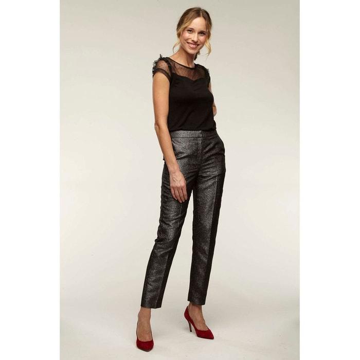 Pantalon droit brillant argent Naf Naf   La Redoute 62c3bfecbeb7