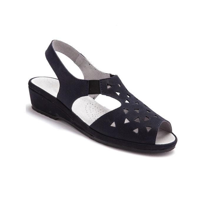 Sandales ultra souples en cuir  bleu clair Pediconfort  La Redoute