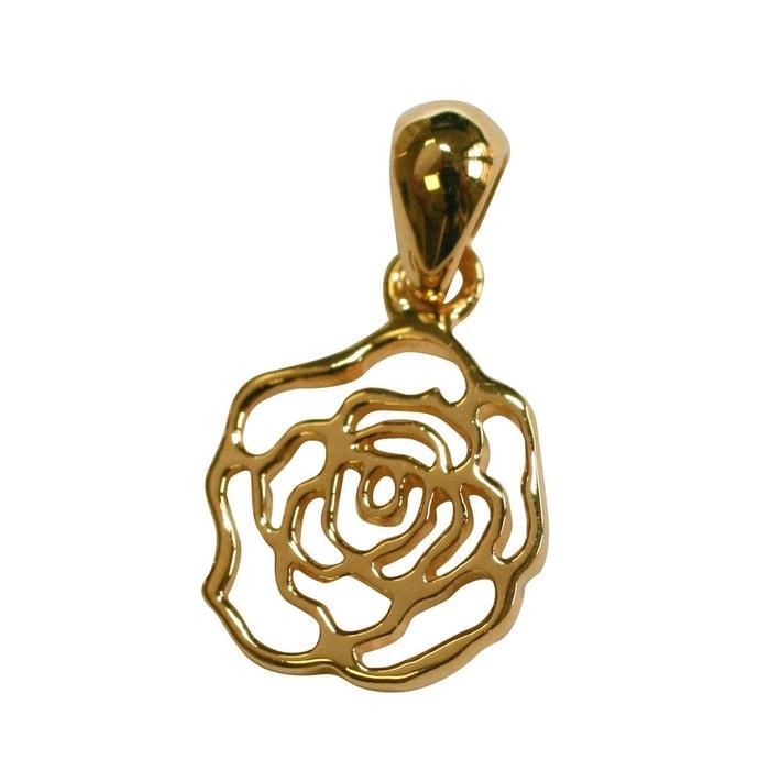 Pendentif Fleur Rose Plaque Or 750 So Chic Bijoux La Redoute