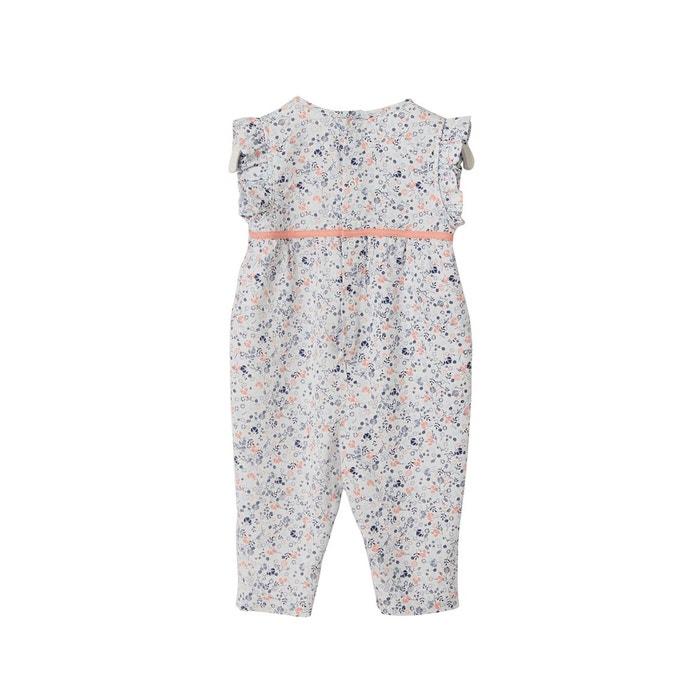 5cf52fbfcf38d Combinaison bébé fille imprimée fleurs blanc Vertbaudet