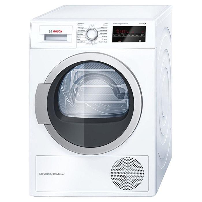 s che linge condensation wtw87460ff blanc blanc bosch. Black Bedroom Furniture Sets. Home Design Ideas