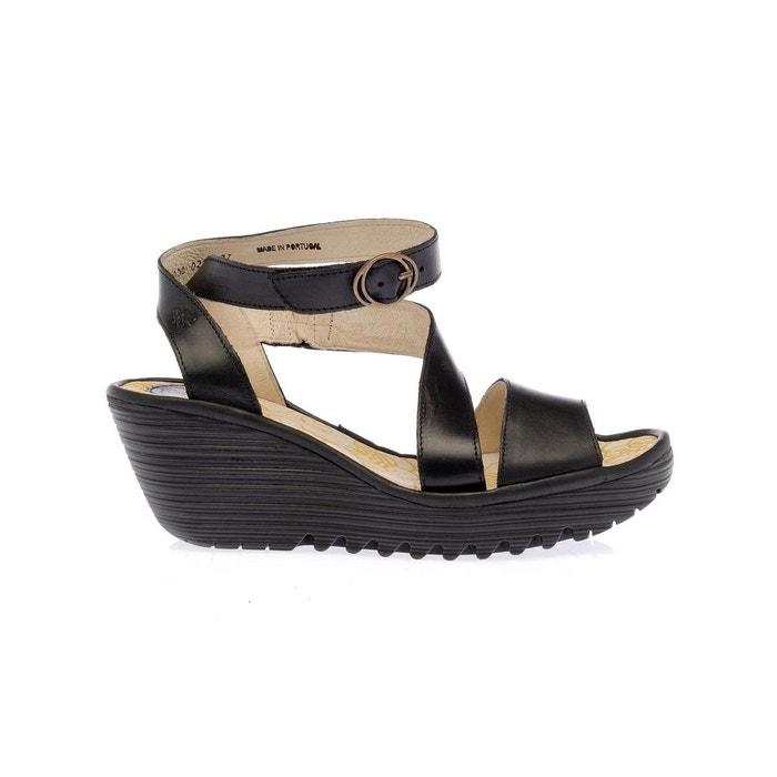 Sandale noir Fly London Propre Et Classique Acheter Pas Cher Vraiment Best-seller À Vendre Livraison Gratuite 2018 Réduction Confortable YavHXbPT