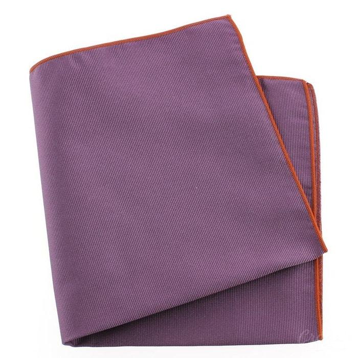 Pochette soie, parma, ourlet orange violet Tony Et Paul   La Redoute