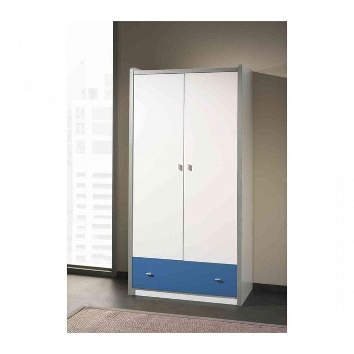 Armoire 2 portes blanche et bleu blanc Terre De Nuit | La Redoute
