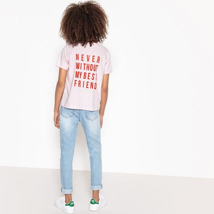 Camiseta corta estampada 10-16 años  La Redoute Collections image 0