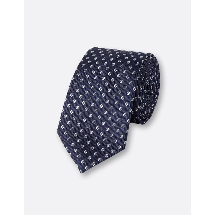 Cravate 6,5cm soie bleu fantaisie Brice | La Redoute