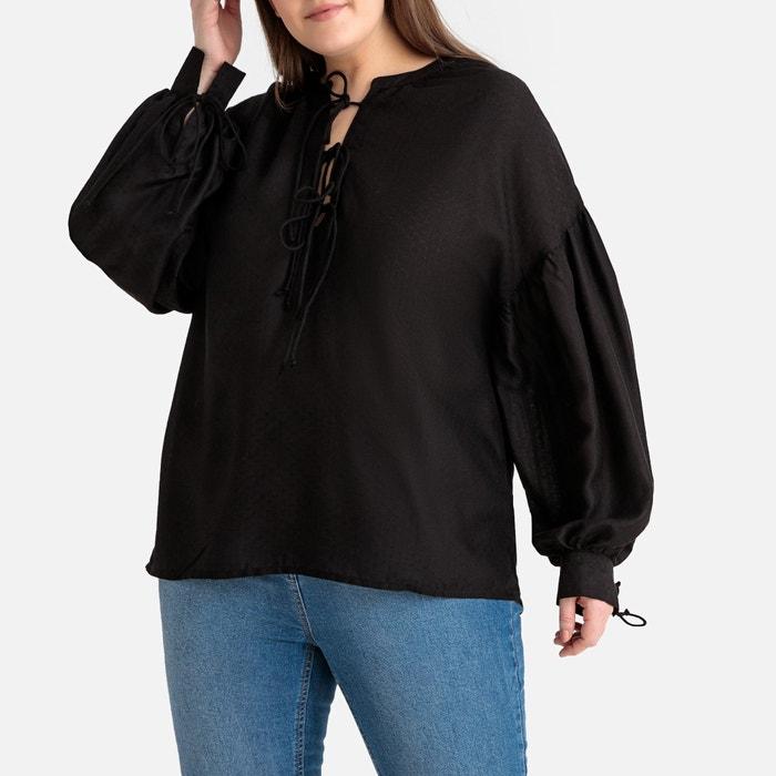 832cd9172 Tie-neck peasant blouse Castaluna Plus Size | La Redoute