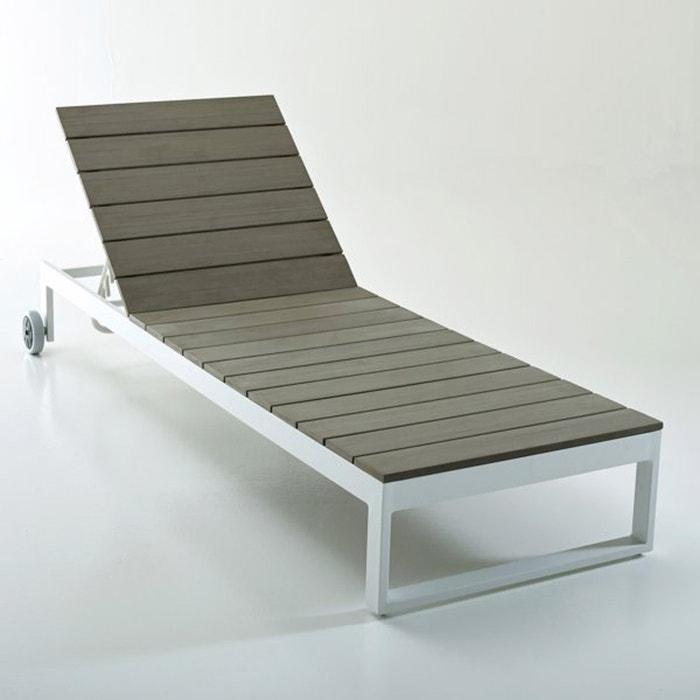 Bain de soleil en polywood admer la redoute interieurs for Mobilier de jardin la redoute