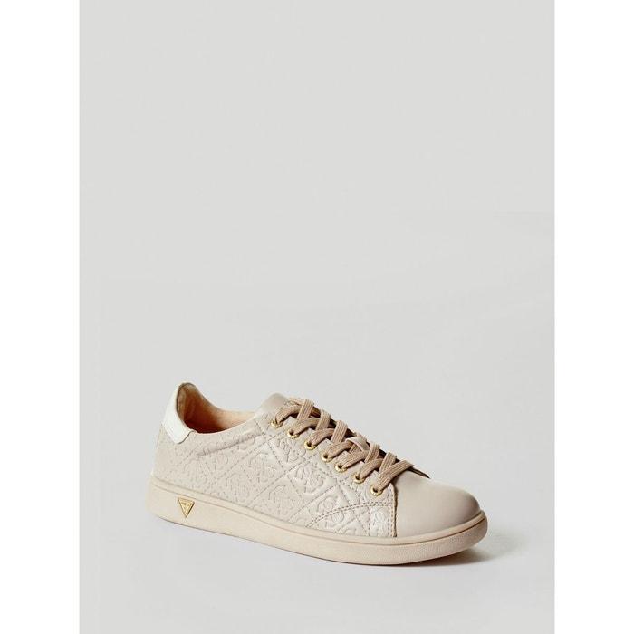 Livraison Gratuite En Vente Acheter Pas Cher Grand Escompte Sneaker super logo gaufre beige Guess En Ligne Pas Cher Officiel Prix De Gros Prix Pas Cher aIssyQOzs