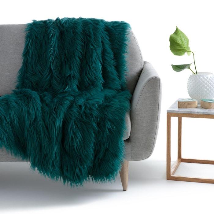 plaid fa on fourrure livio la redoute interieurs la redoute. Black Bedroom Furniture Sets. Home Design Ideas
