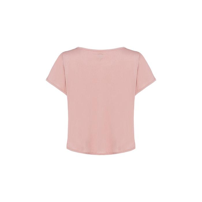 cuello manga corta ELLASWEET con lisa redondo y Camiseta wWqZ7t