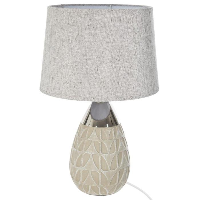 lampe c ramique h46 beige atmosphera la redoute. Black Bedroom Furniture Sets. Home Design Ideas