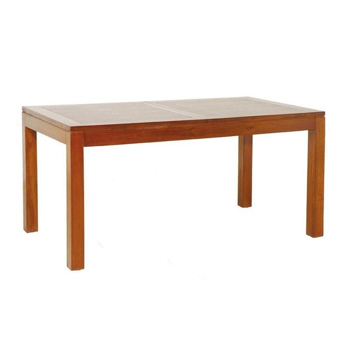table repas allonge 160 200cm lola bois fonc pier import la redoute. Black Bedroom Furniture Sets. Home Design Ideas