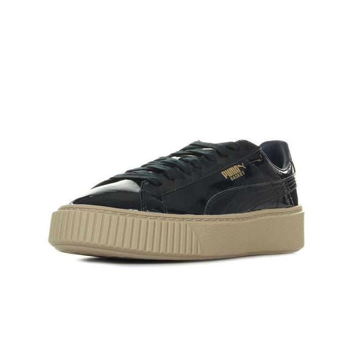 Puma Basket Platform Patent Wns noir - Chaussures Baskets basses Femme