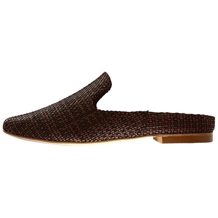 Mules  /  sabots cuir  marron Mtng  La Redoute