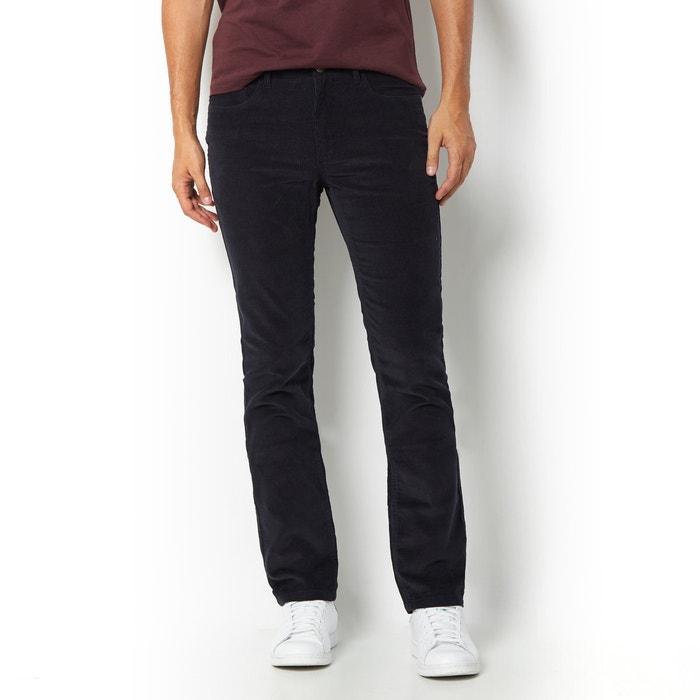 Imagen de Pantalón de terciopelo 5 bolsillos, corte straight, L. 34 R essentiel