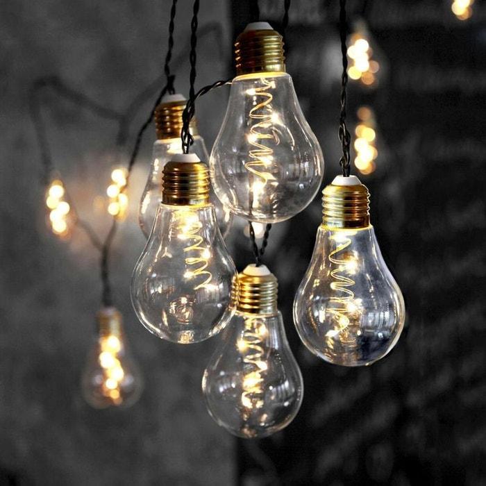 glow guirlande ampoules 10 led transparent l5m. Black Bedroom Furniture Sets. Home Design Ideas
