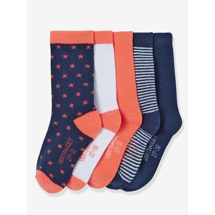 525ec6fceaa2f Lot de 5 paires de chaussettes fille Vertbaudet | La Redoute