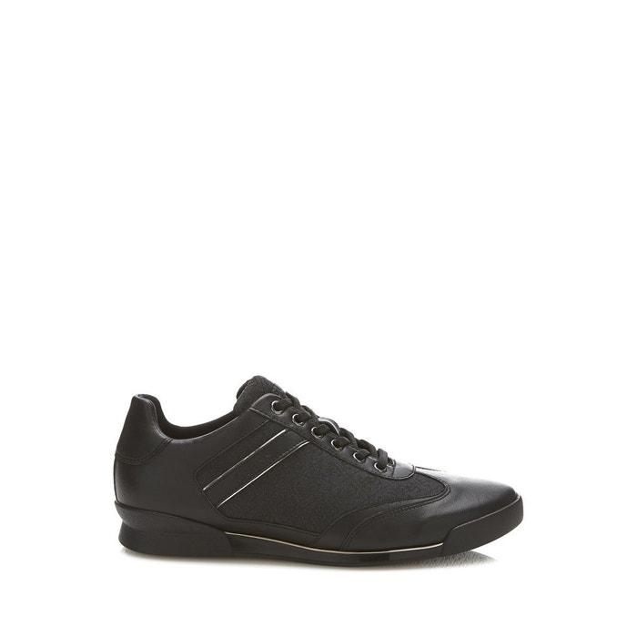 Sneaker new georg cuir veritable noir Guess