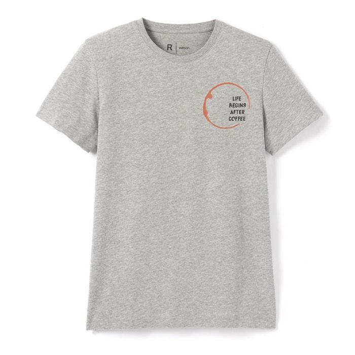 Image T-shirt con scollo rotondo fantasia, maniche corte La Redoute Collections