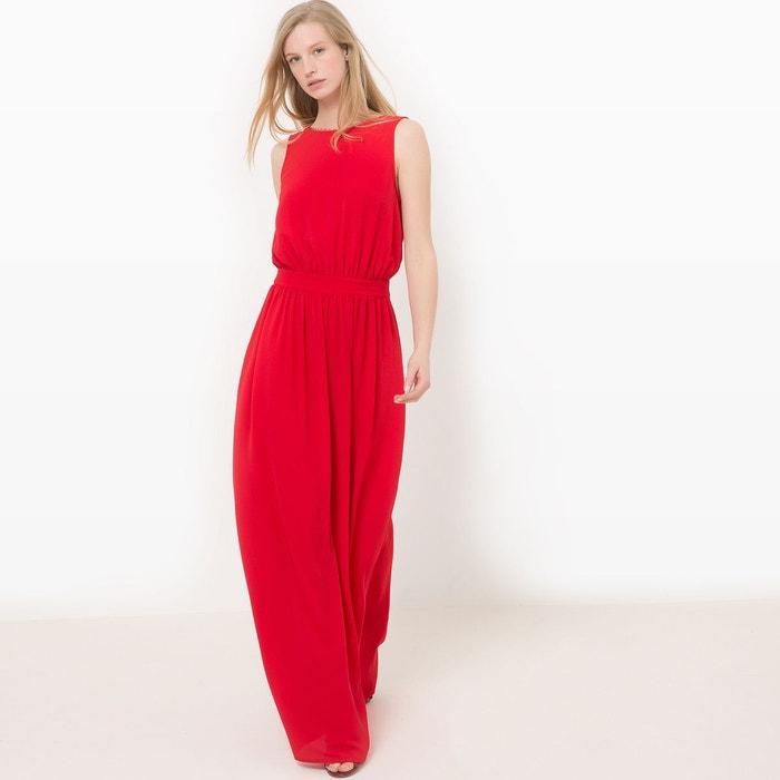 robe longue d collet dos rouge mademoiselle r la redoute. Black Bedroom Furniture Sets. Home Design Ideas