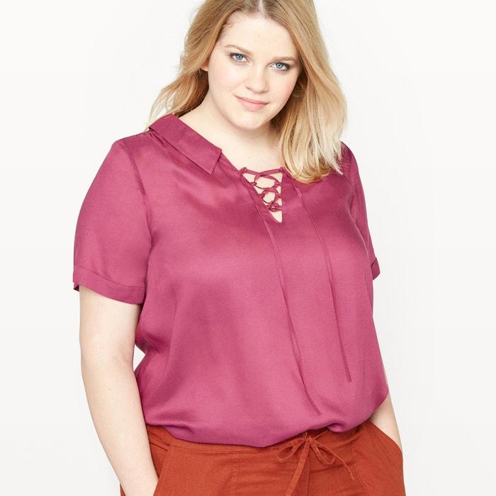 afbeelding Losse blouse met korte mouwen CASTALUNA