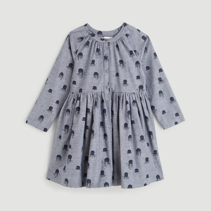 4506a18aad6f9 Robe denim imprimée bleu Monoprix Kids