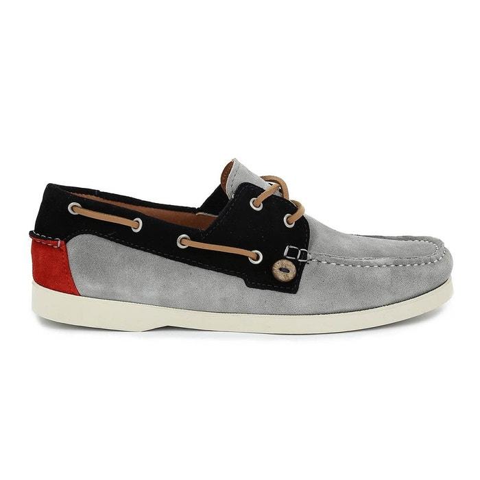 Chaussure bateau larch suede gris perle Faguo