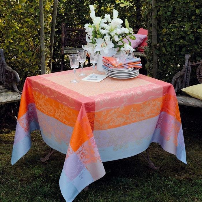 nappe jardin extraordinaire sunset bleu orange rose garnier thiebaut la redoute. Black Bedroom Furniture Sets. Home Design Ideas