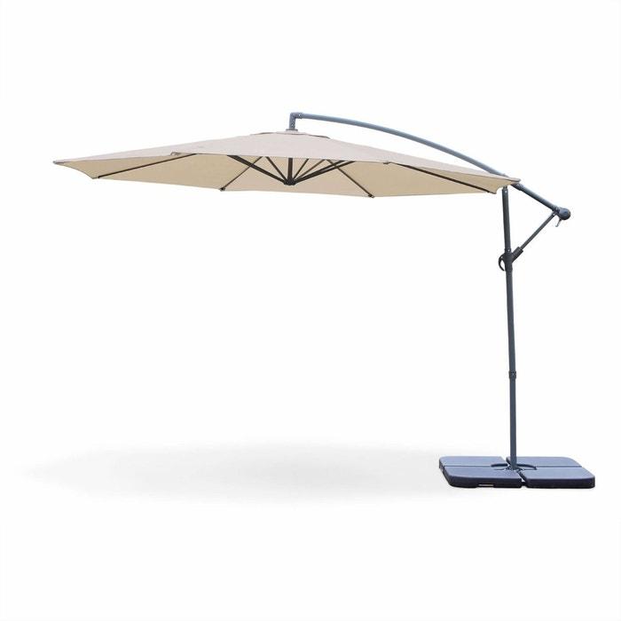 parasol d port rond hardelot 350cm excentr beige 8 baleines beige alice s garden la redoute. Black Bedroom Furniture Sets. Home Design Ideas