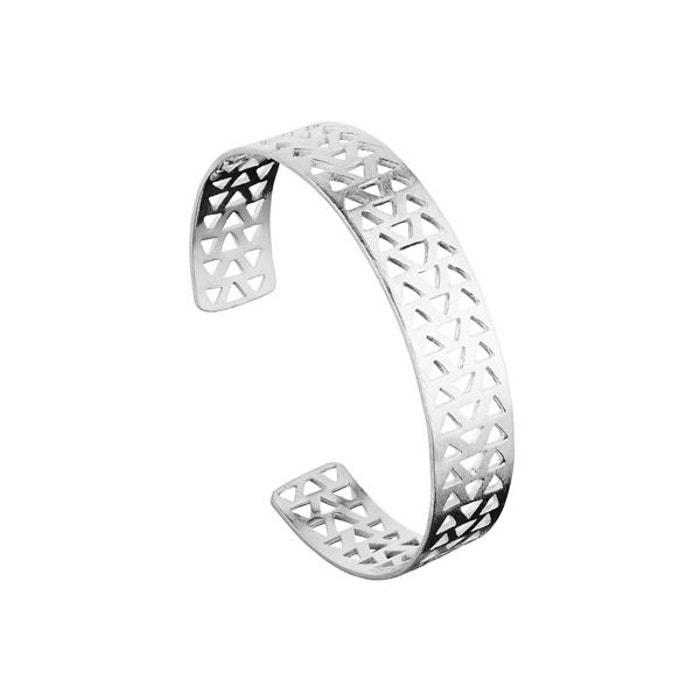 Bracelet manchette delta en argent 925 passivé, 14.5g, ø60mm argent Canyon | La Redoute