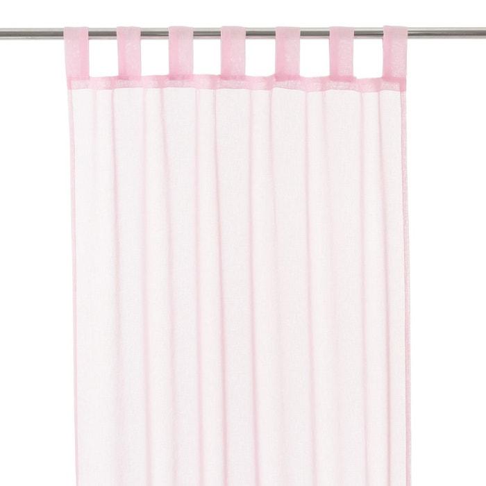 voilage 105 x 250 cm rose rose atmosphera la redoute. Black Bedroom Furniture Sets. Home Design Ideas