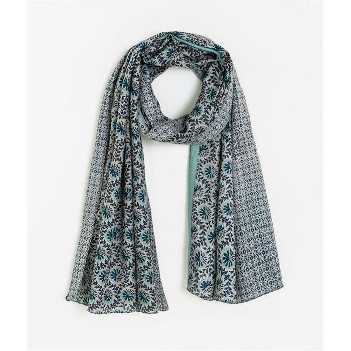 4f55f581ca6fe Foulard turquoise imprimé fleurs bleu Grain De Malice   La Redoute