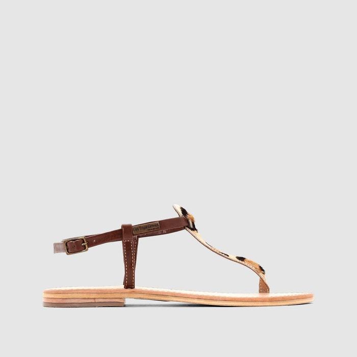 Sandales cuir  tan/léopard Les Tropeziennes Par M Belarbi  La Redoute