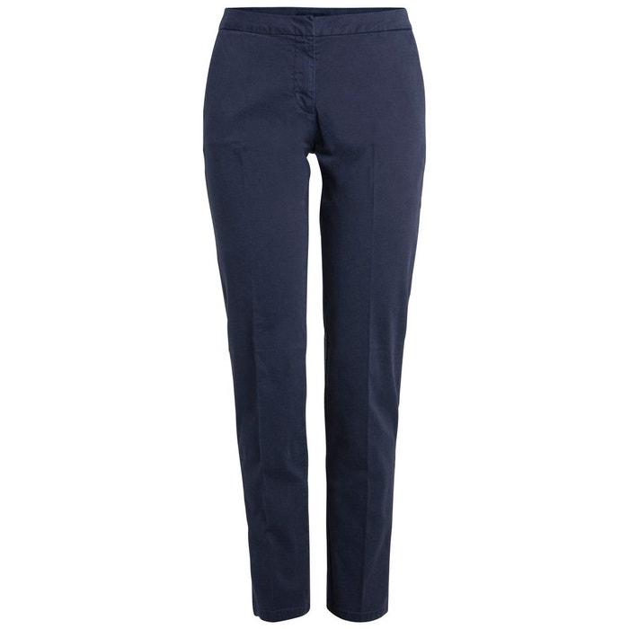 7638c746e035 Pantalon chino uni bleu-maritime blue Pieces