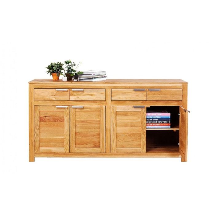 buffet attento kare design bois fonce kare design la redoute. Black Bedroom Furniture Sets. Home Design Ideas