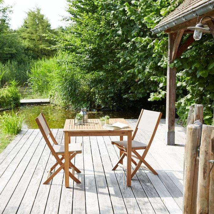 Salon de jardin en bois d\'acacia fsc 2 places acacia Bois Dessus ...