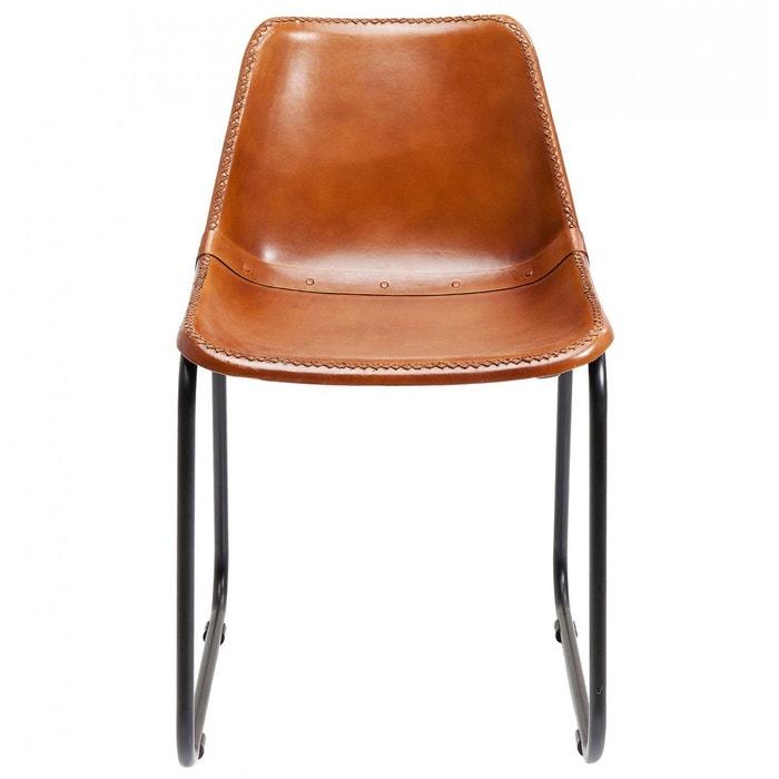 chaise vintage cuir marron kare design couleur unique kare design la redoute. Black Bedroom Furniture Sets. Home Design Ideas