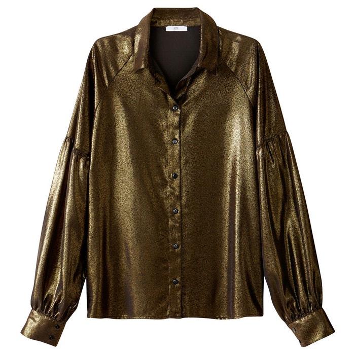 La Bronze Uni Redoute Col Longues Brillant Manches Chemise Montant nB4A0qPwPS