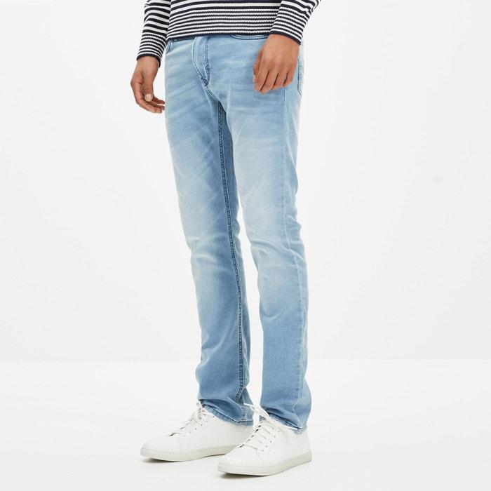 "Goklight15 Straight Cut Stretch Denim Jeans, Length 34""  CELIO image 0"