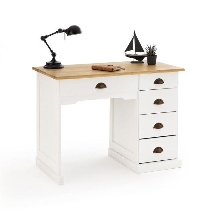 bureau pin massif betta simple caisson blanc bois la. Black Bedroom Furniture Sets. Home Design Ideas