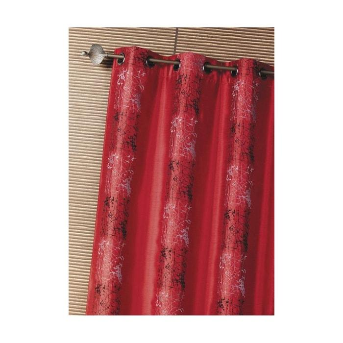 rideau d 39 ameublement shantung brod motif thnique home maison la redoute. Black Bedroom Furniture Sets. Home Design Ideas