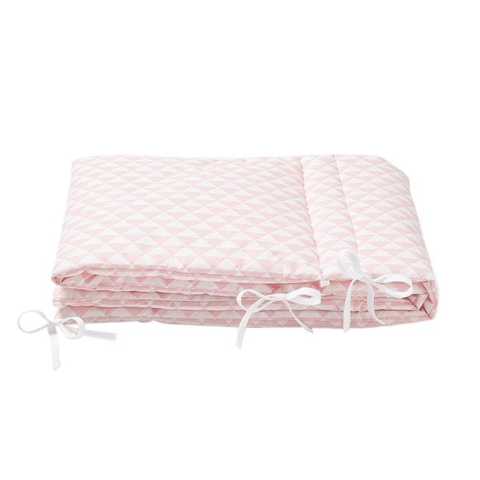 tour de lit triangle rose layette rose p le cocoeko la. Black Bedroom Furniture Sets. Home Design Ideas