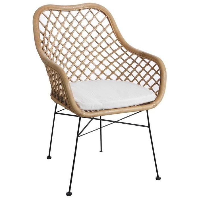 fauteuil en rotin naturel et m tal naturel aubry gaspard. Black Bedroom Furniture Sets. Home Design Ideas