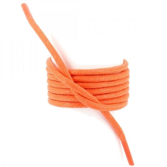 Lacets ronds coton ciré couleur orange  orange Les Lacets Francais  La Redoute