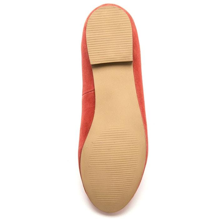 Slippers cuir velours orange Balsamik