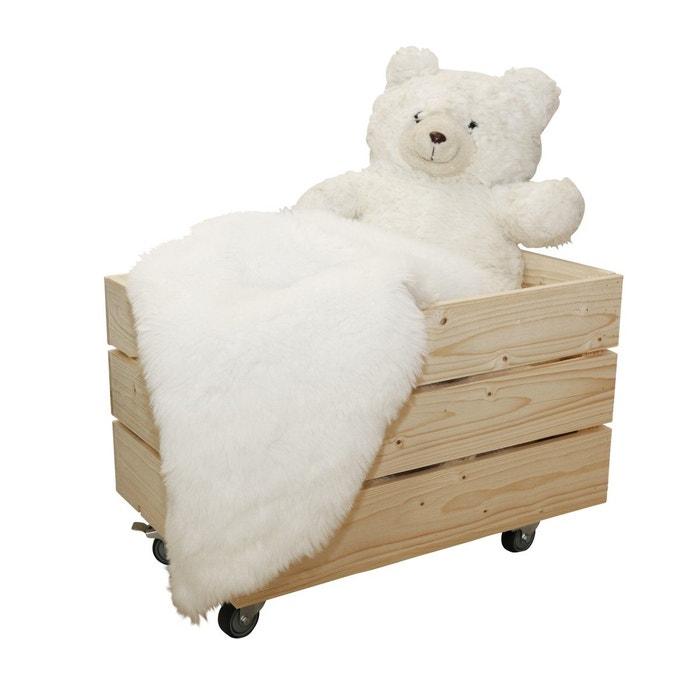 caisse de rangement en bois 4 roulettes beige clair simply a box la redoute. Black Bedroom Furniture Sets. Home Design Ideas